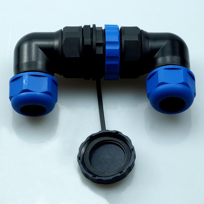 3PIN M28 Waterproof Connector(IP67 Elbow 3Pin Panel Mount Waterproof Aviation Connector)