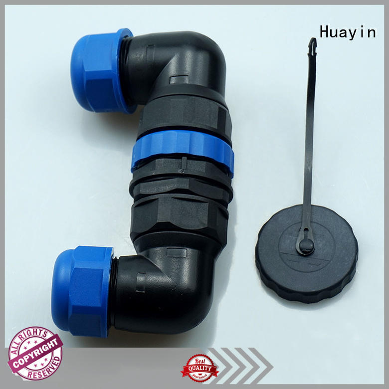 Huayin waterproof waterproof electrical plugs and sockets elbow plug