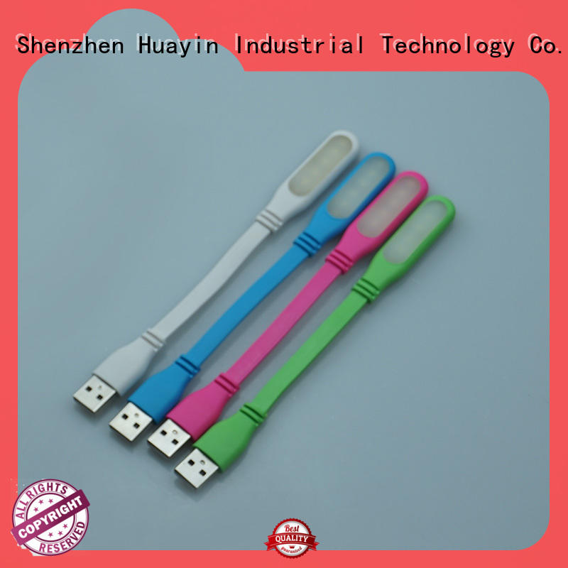 Huayin two stitches usb light for laptop with various colors for sale