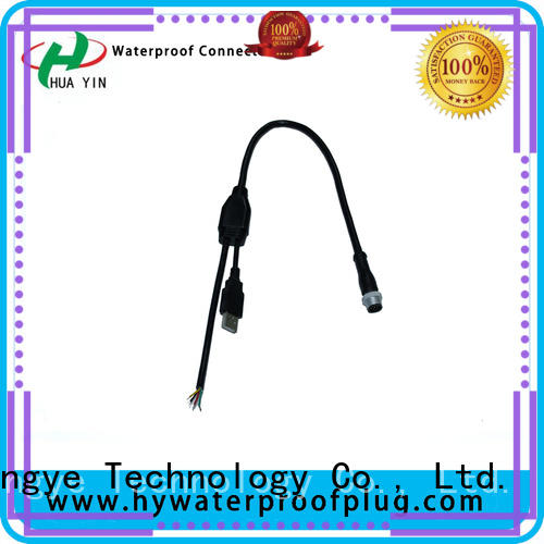 New design 1 input 2 outputs IP67 cable splitter Y type wire connector
