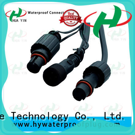 HUA YIN two pin 12v plug connectors wholesale for cultivation
