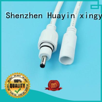 HUA YIN black waterproof dc power connector with anti uv