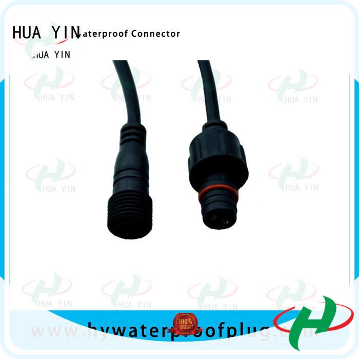 black waterproof plug cable for floor heating