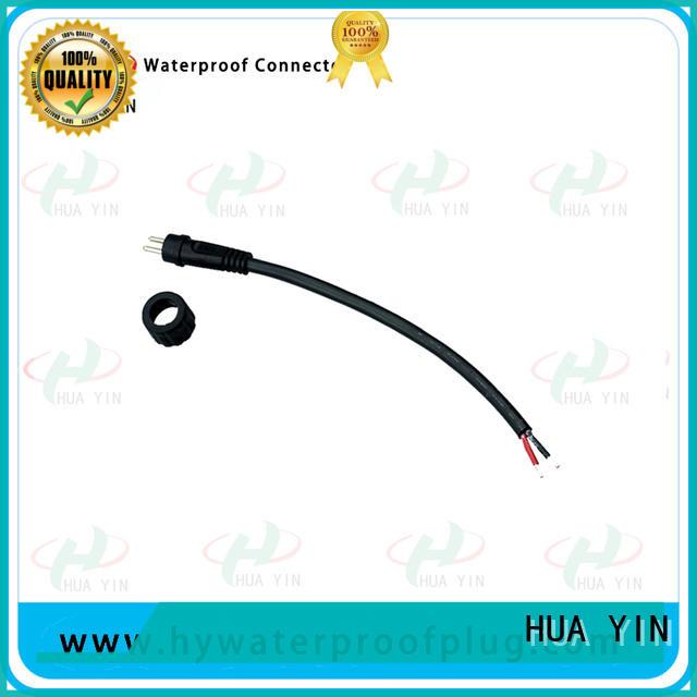 HUA YIN three pin waterproof plug maker for electronic industry
