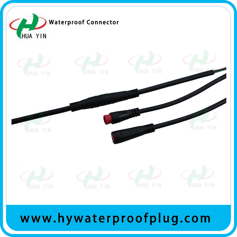 M8 2PIN  PVC  IP66 male female electric bike  Waterproof  cable Connector plug