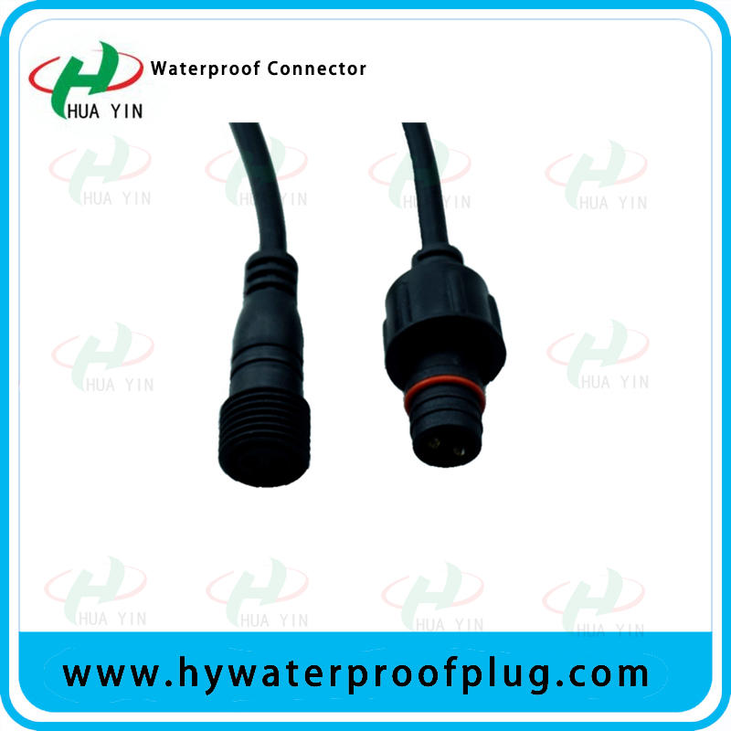 LED strip lighting power cable waterproof connector 2pin