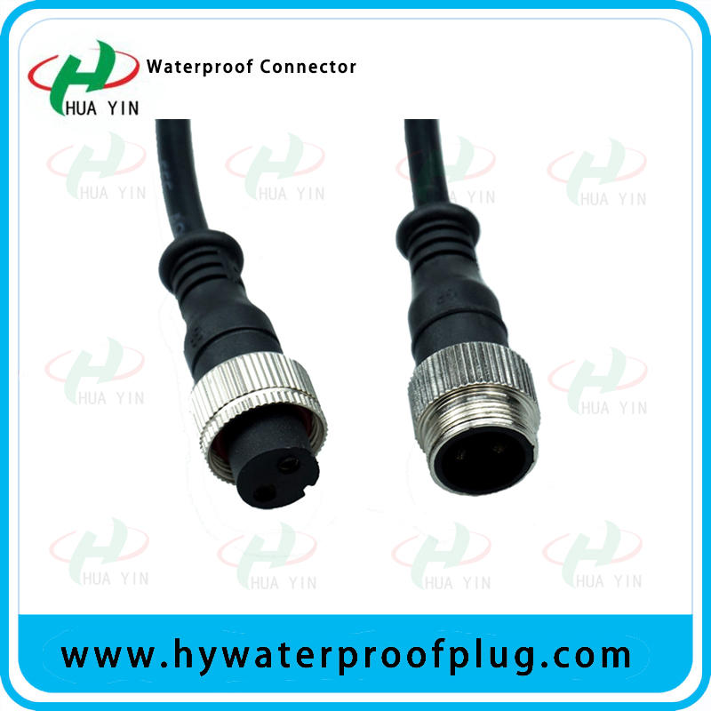 M18 2PIN  Male Female Car Cable Metal Connector for LED Light