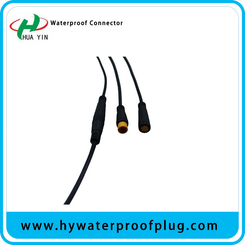 M8 3PIN  PVC  IP66 male female electric bike  Waterproof  cable Connector plug