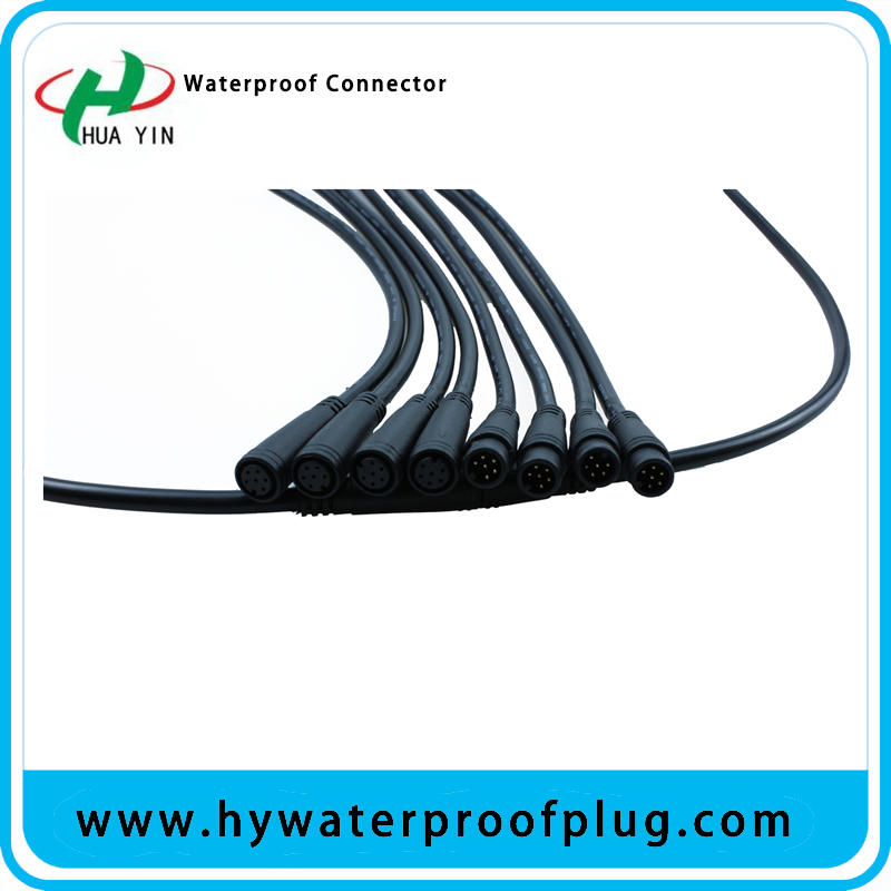 M8 6PIN  PVC  IP66 male female electric bike  Waterproof  cable Connector plug