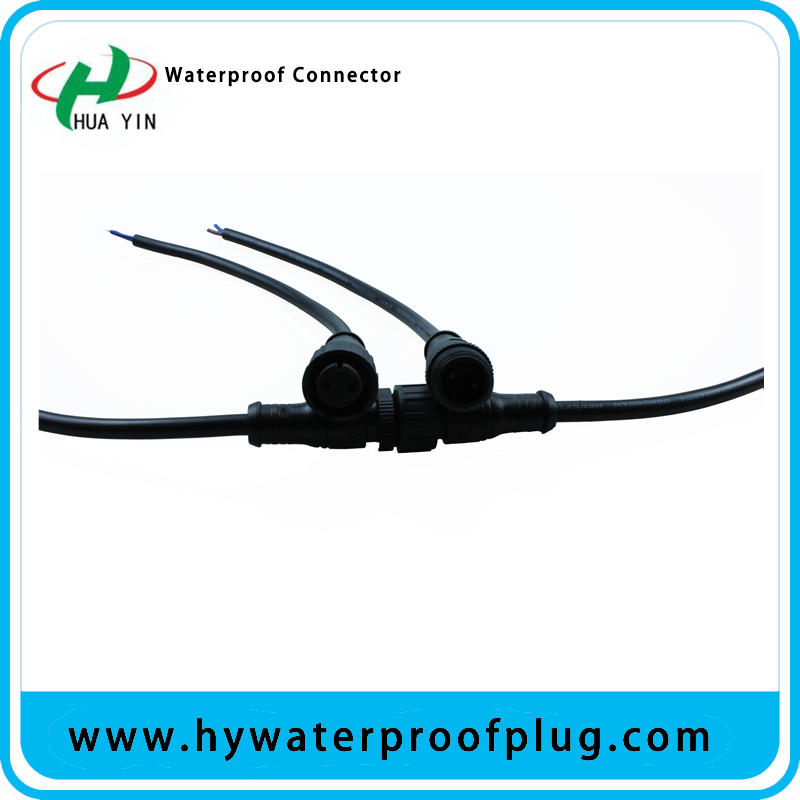 M16  Metal waterproof 2 pin cable IP67 connector