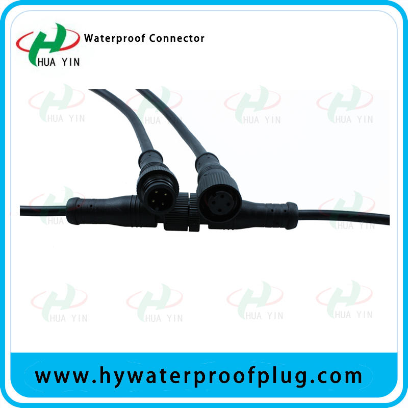 Male and female M12 4PIN cable Waterproof Plug