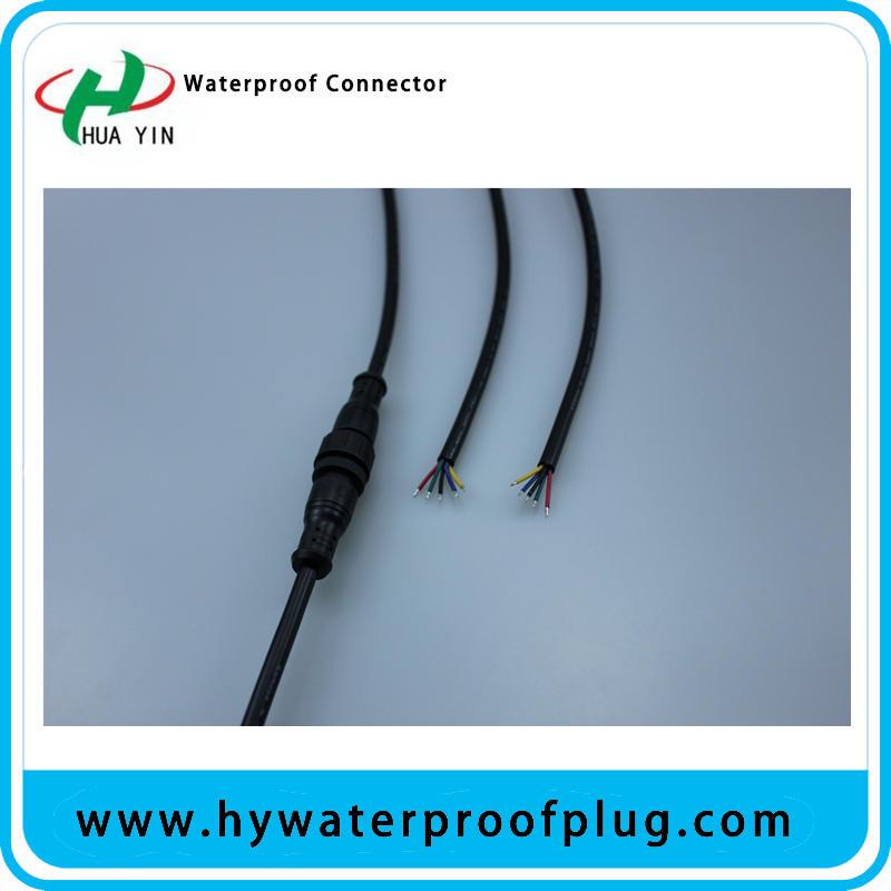 M16 5pin ip67 male female metal waterproof plug connector