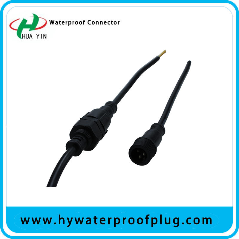 Ip67 3PIN Panel Mount Connector  cable