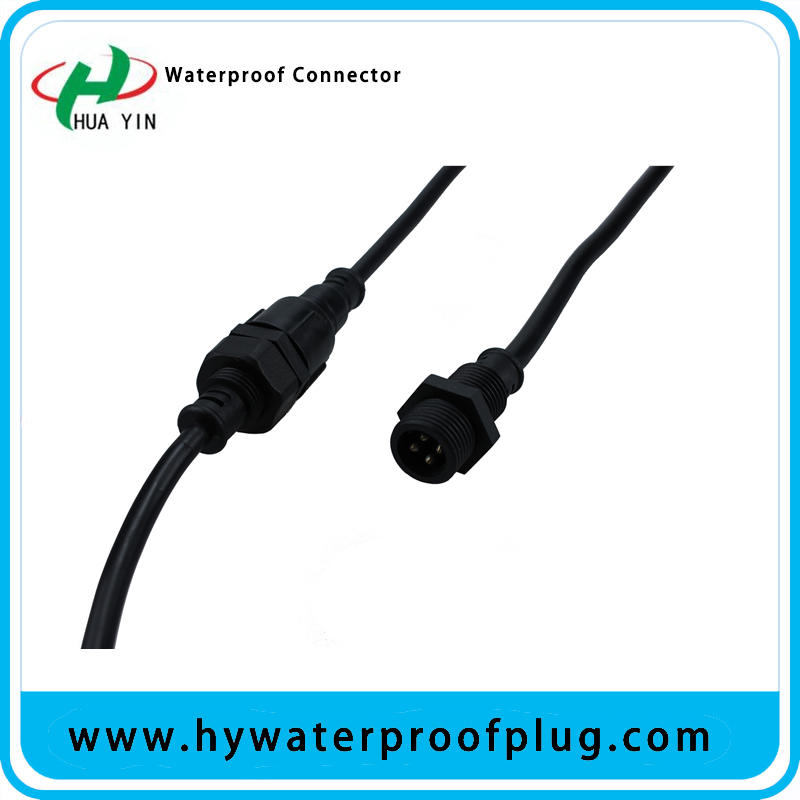 Huayin factory direct sales IP67 4pin  4*0.75m²  Panel Mount Connector
