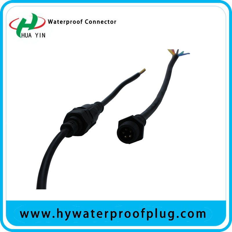 Waterpoof Connector 5PIN outdoor PVC panel  mount connector