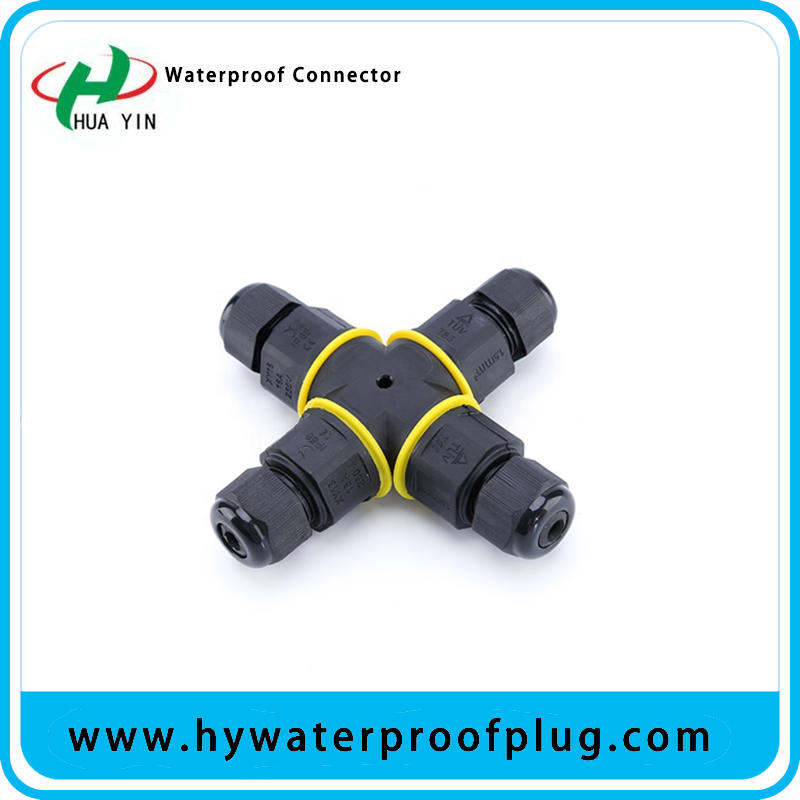 Ip67 waterproof 2 pin 4 way X type screw connector