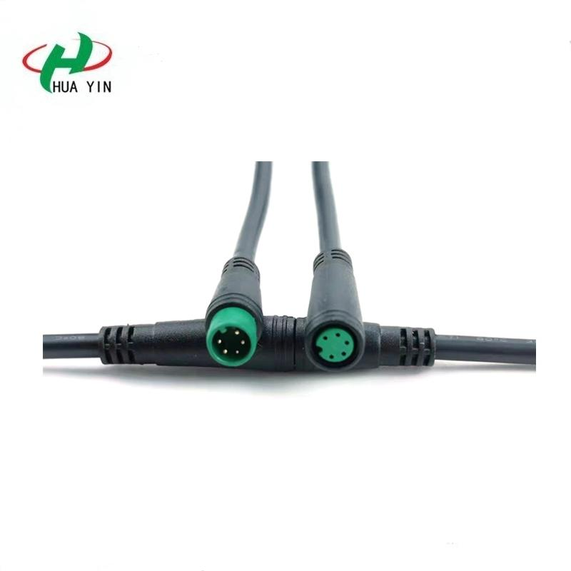 M8 5PIN  PVC  IP66 male female electric bike  Waterproof  cable Connector plug