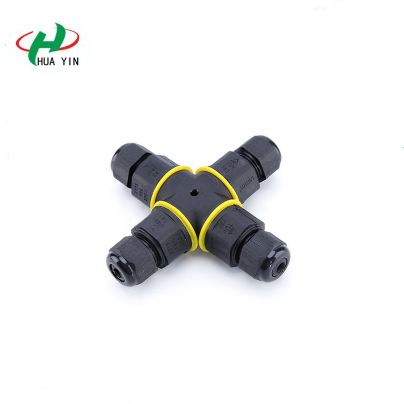 Ip67 waterproof 2 pin 4 way X type screw connector