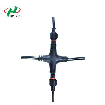 Manufacturer of waterproof connector  2Pin waterproof cross-connectors IP67 Male and Female connector