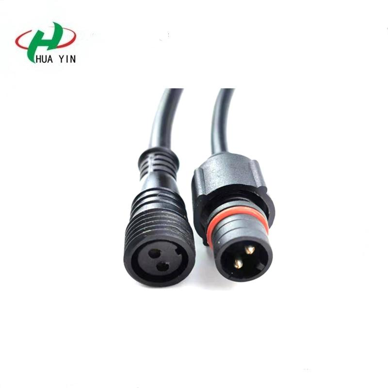 HUAYIN Factory direct sales 2PIN  Waterproof Connector Cable