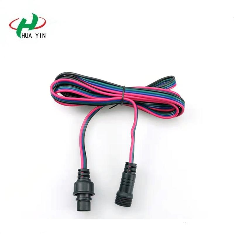 4pin Extension Cable Wire Cord 18awg Electrical Wire Cable 4 Conductor Parallel Wire line  4Pin waterproof connector