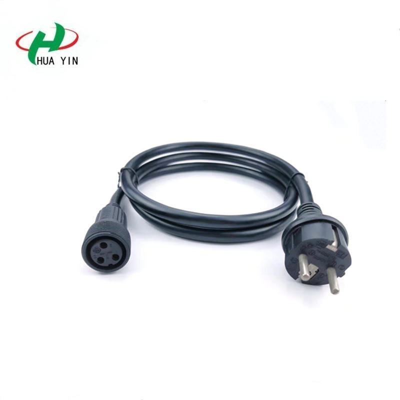 Eu Plug European Power Cord Extension Reel Socket Lead Electrical Cable Wire