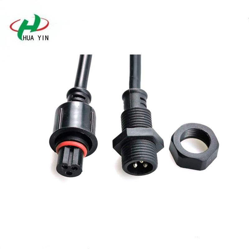 Huayin factory direct sales IP67 3pin  3*0.75m²  Panel Mount Connector