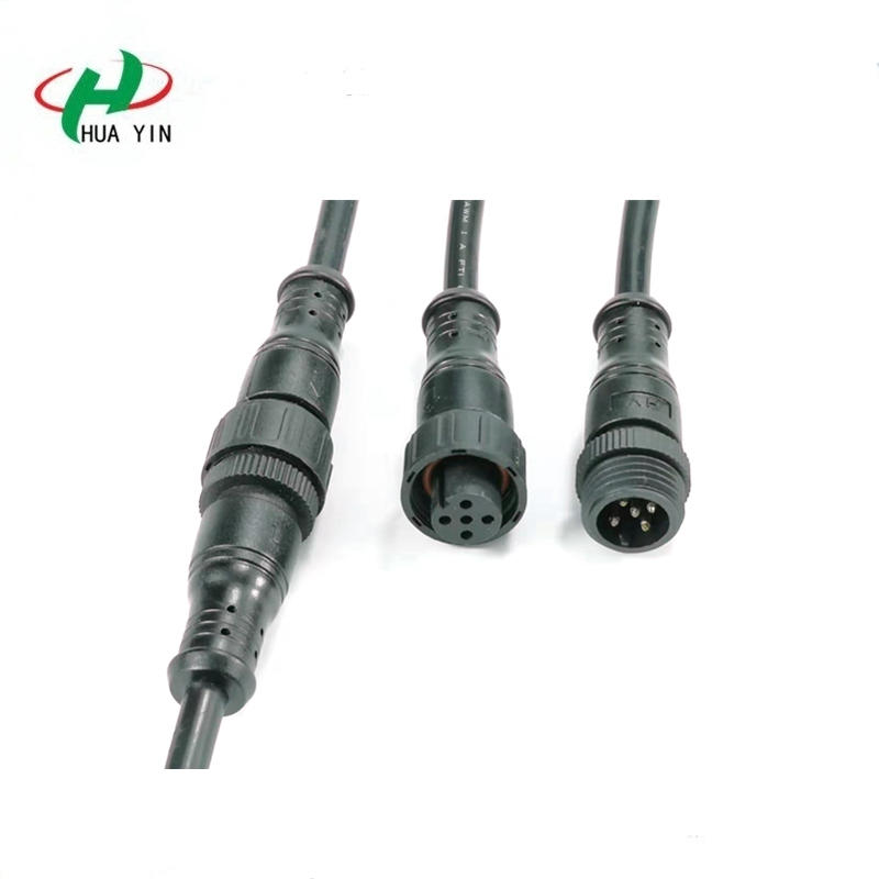 Male and female M16 5PIN cable Waterproof Plug