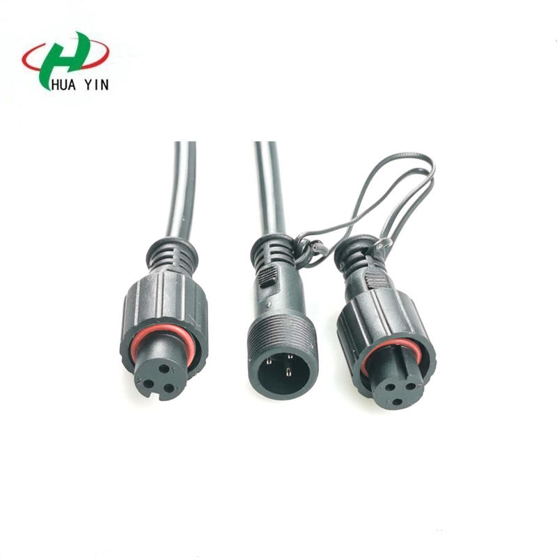 Manufacturers supply 3 core male and female docking waterproof line lithium battery waterproof plug line agricultural operation cable