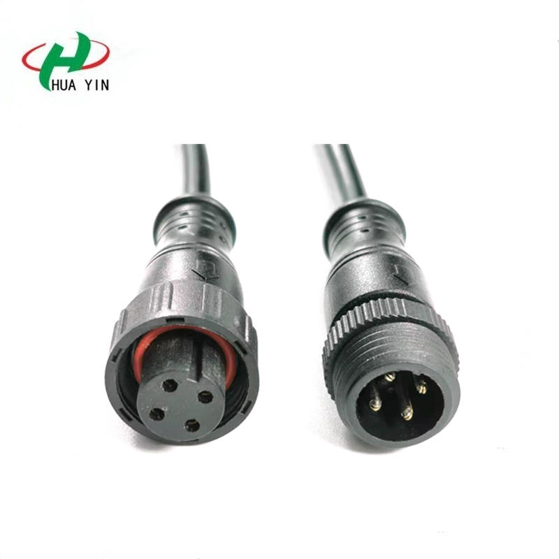 4 pin male to female waterproof connector