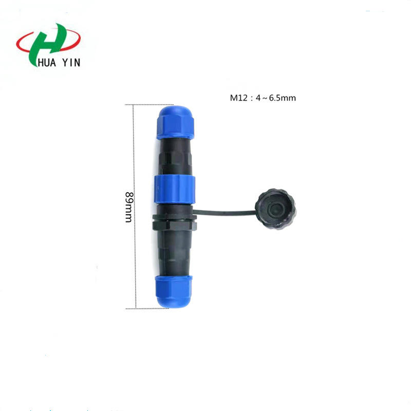 M12 Waterproof Connector 2 3 4Pin  IP67 Nylon connector