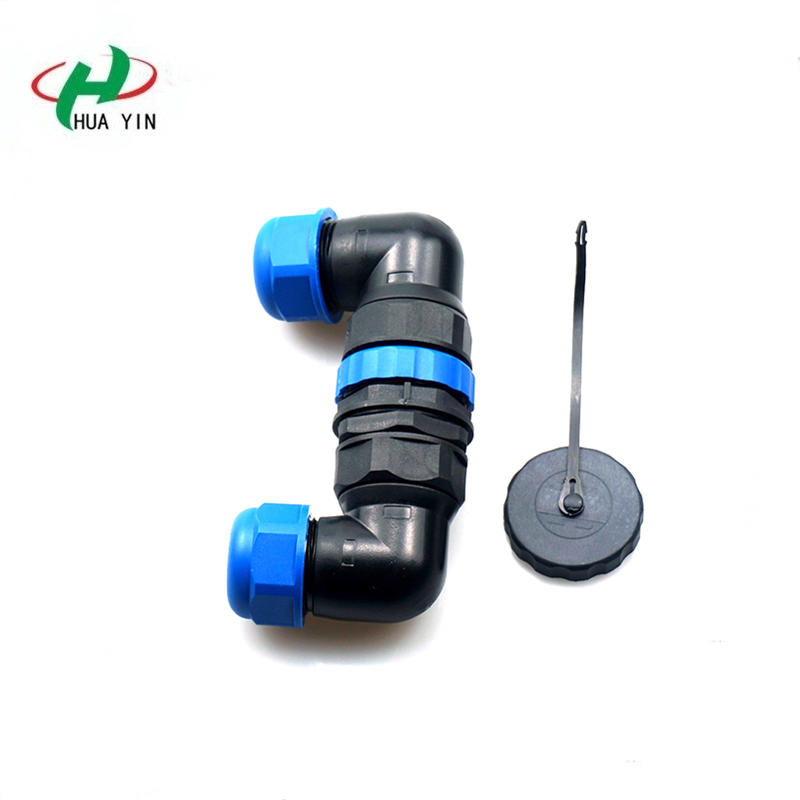 3PIN M28 Waterproof Connector(IP67 Elbow 3Pin Panel Mount Waterproof Aviation Connector )