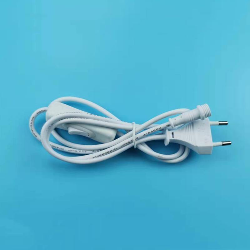 High Quality EU 2pin VDE Standard white power extension cord  european standard power plug