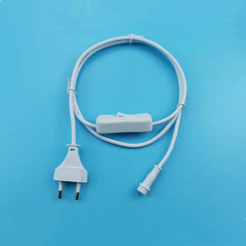 High Quality EU 2pin VDE Standard white power extension cord  european standard power plug