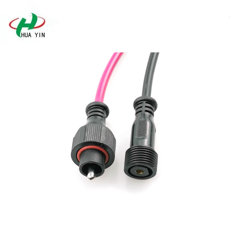 1 pin  ip68 waterproof power connector plug for led strip light connector cable