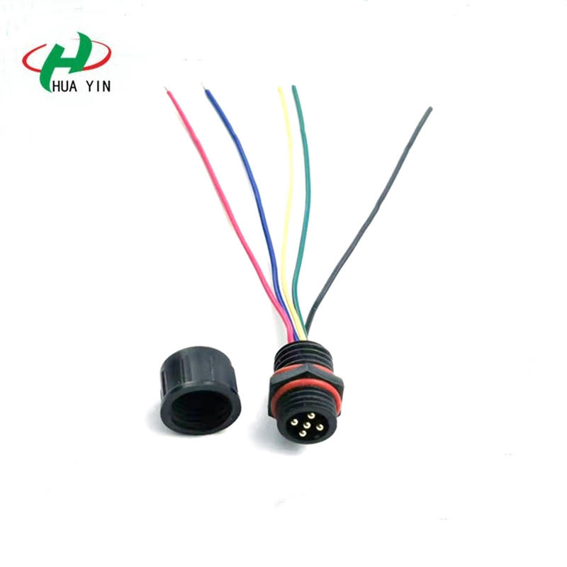 Manufacturer of waterproof connector 5-core panel connector 5Pin Male plug