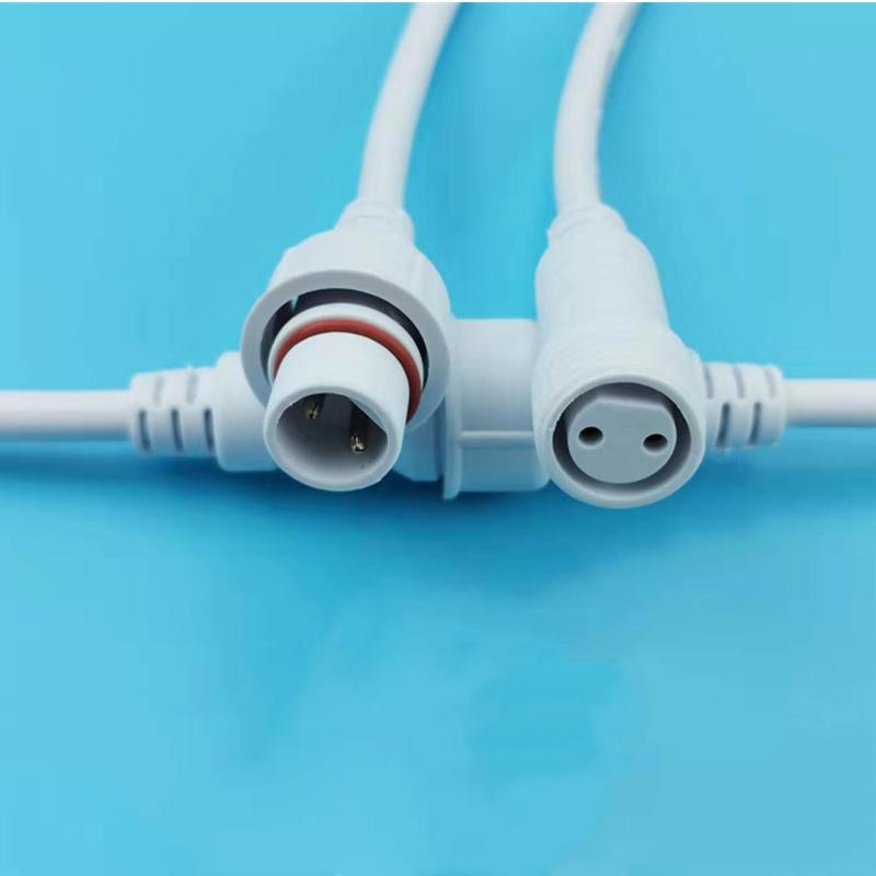 Hot sell 2 pin waterproof power cable connector  2 pin male female screw connector