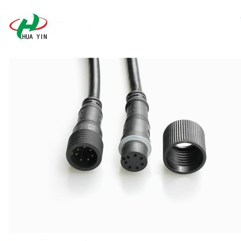 7pin male to female ip67 waterproof led wire connector