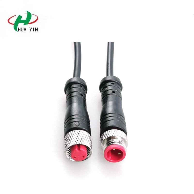 M8 2Pin Metal Nut Waterproof  Connector ip67 waterproof  male female connector