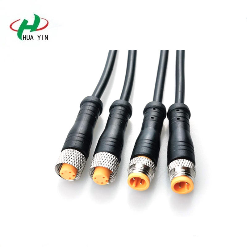 M8 3pin female male terminal connector ip67 outdoor led lighting waterproof cable wire connector