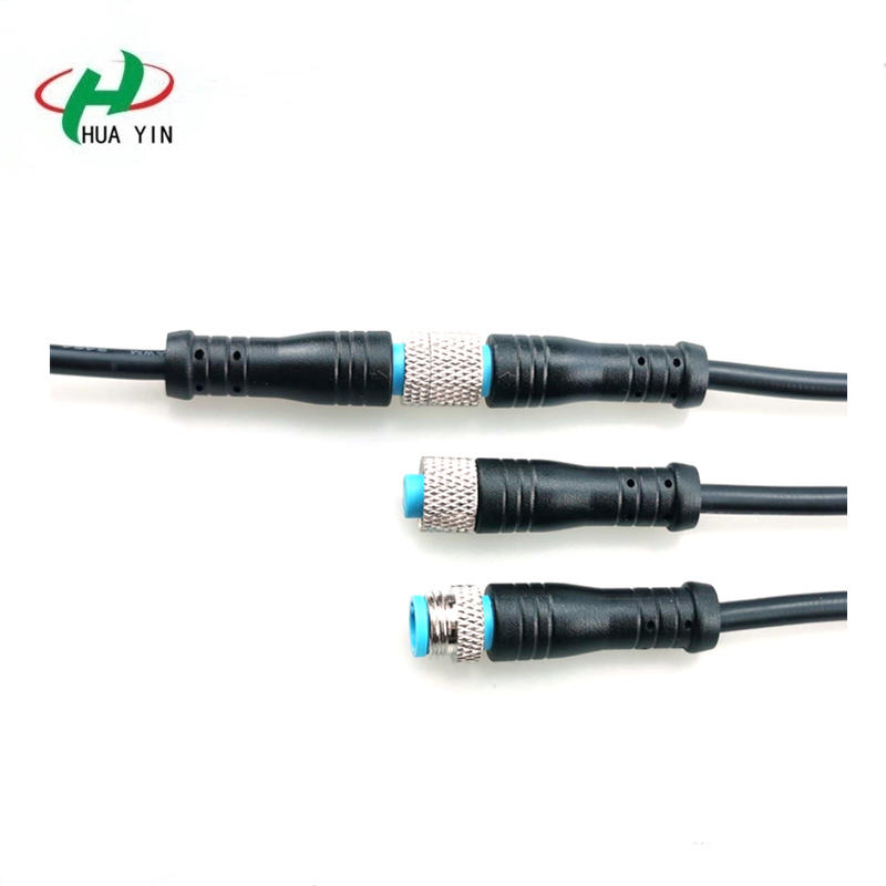 M8 4pin metal nut waterproof connector M8 4Pin IP67 male female electric bike Waterproof cable Connector plug