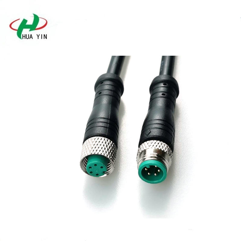 M8 5Pin PVC IP67 male female electric bike Waterproof cable Connector plug