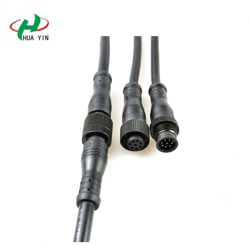 8pin screw connector IP67 waterproof connector for outdoor lighting connection