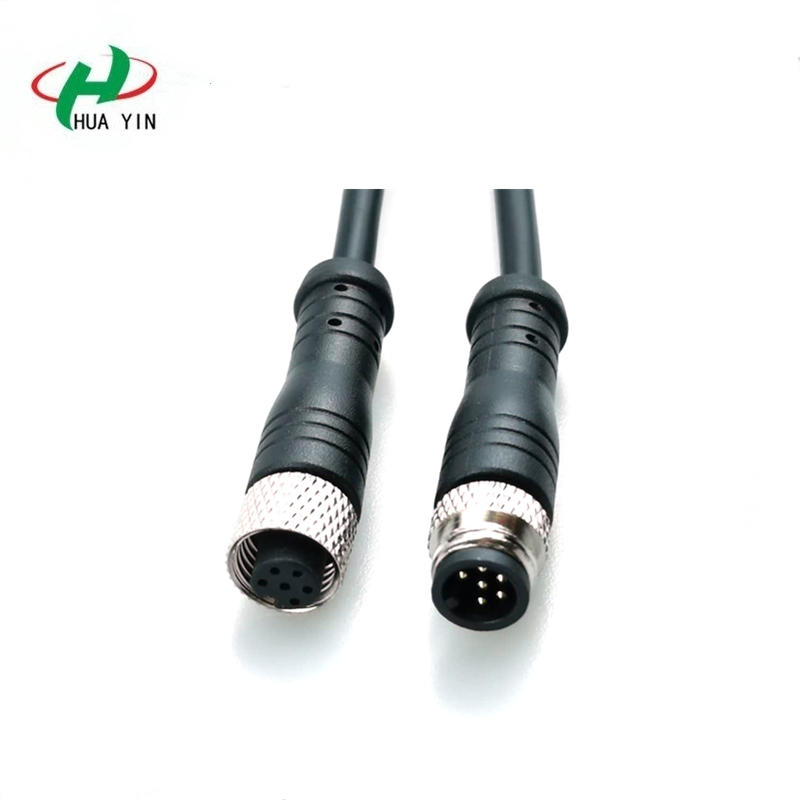M8 6Pin PVC IP67 male female electric bike Waterproof cable Connector plug for Sensor shared bike water purifier