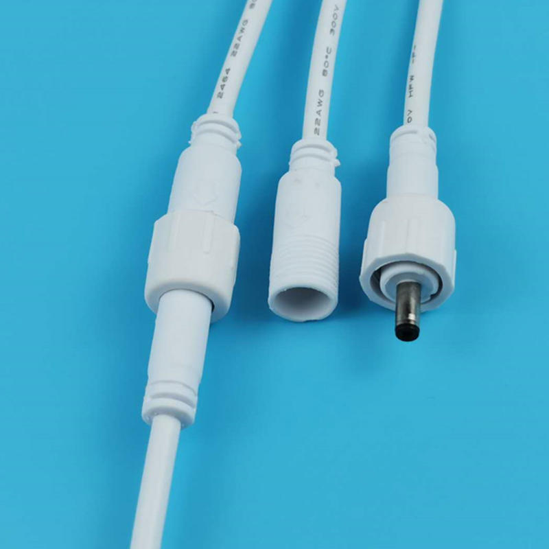 White  cable dc connector DC35135 waterproof connector for LED light