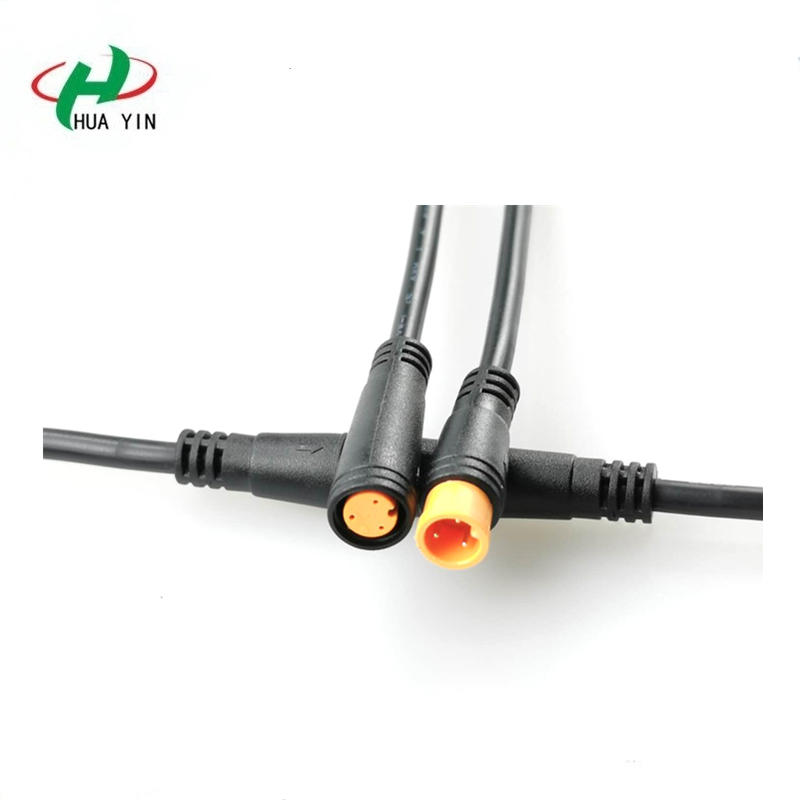 China Manufacturer M8  3pin electric male female connectors IP65 Waterproof Circular Connector  for LED Outdoor Lighting