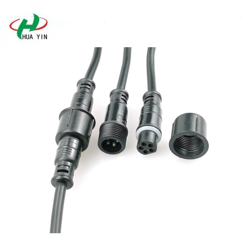 5pin female male terminal connector ip67 outdoor led lighting waterproof cable wire connector