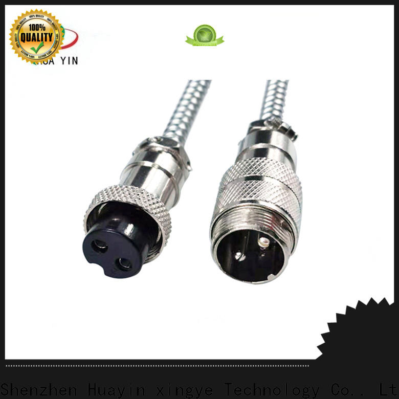 black 3 pin aviation connector supplier for led