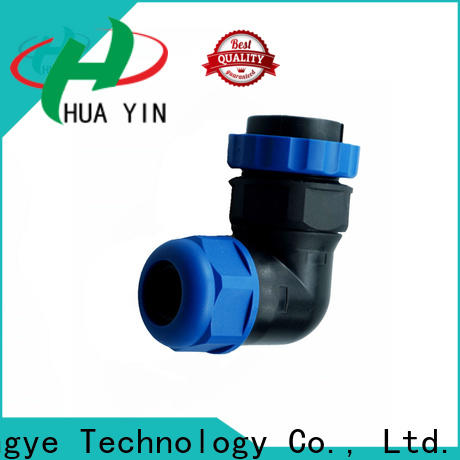 HUA YIN black waterproof led connectors with strong pressure resistance online