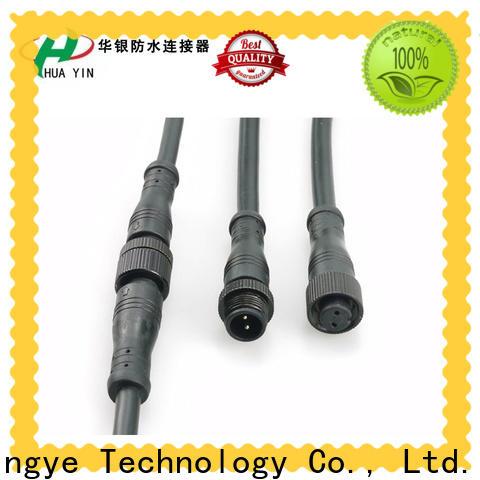 HUA YIN two pin waterproof plug wholesale for display screen